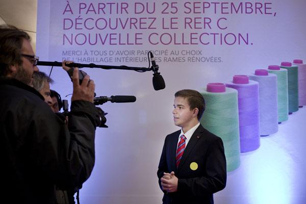 Reportage Region Ile de France, inauguration du RER C et du mutlipole ˆ Massy. 25/09/2012