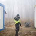 CHANTIER CONTESTE DE CENTER PARCS DANS LA FORET DES CHAMBARANS, ROYBON