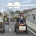 SAMEDI 9 JANVIER, LE SOPPOSANTS AU PROJET D AEROPORT SE SONT MOBILISES SUR LE PERIPHERIQUE NANTAIS. 7000personnes selon la police, 20 000 selon les organisateurs, ont convergés, à pied, en velo ou en tracteurs en direction du Pont de Cheviré. Ils reclamaient notamment la suppression du referé expulsion auquel sont assignés les agriculteurs de la zone le 13 janvier prochain et souhaitaient une nouvelle fois exprimer leur determination pour l'arret total du projet d'aeroport sur Notre Dame des Landes.